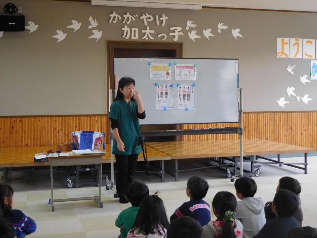 姿勢と食事の特別授業 加太小学校へ